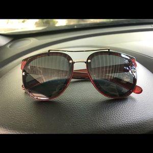 Reddish sunglasses